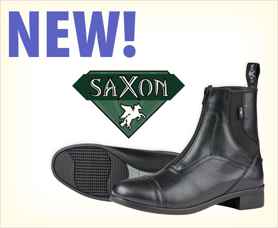 New! Saxon® Syntovia Paddock Boots!
