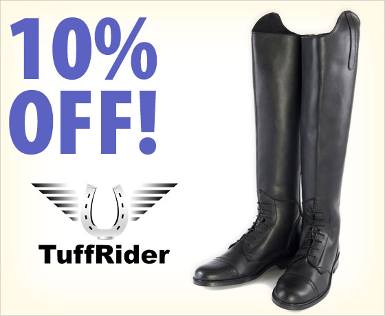 10% off the TuffRider® Starter Ladies' Field Boot†!