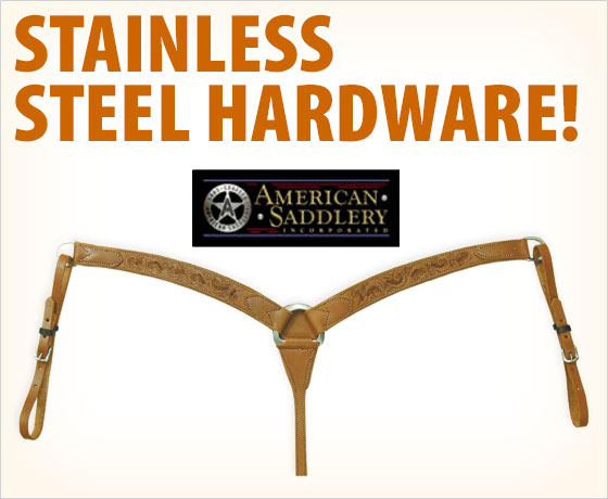 Stainless steel hardware! American Saddlery Floral Southwest Straight Breast Collar!