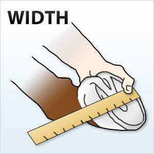 measuring width of horse hoof