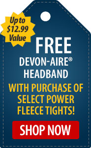 FREE Devon-Aire Headband with Purchase of Select Power Fleece Tights!
