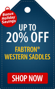 Horse.com Exclusive Up to 20 % Off Select Fabtron Western Saddles