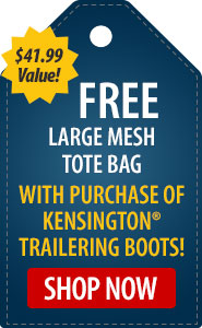 FREE Kensington Large Mesh Tote Bag with Purchase of Kensington Trailering Boots!