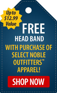 FREE Headband with Purchase of Select Noble Outfitters Apparel!