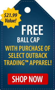 FREE Ball Cap with Purchase of Select Outback Trading Apparel!