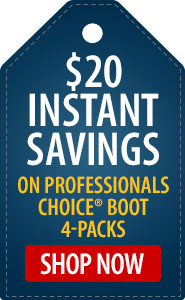$20 Instant Savings on Professionals Choice Boots 4-Pack!
