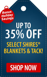 Bonus Holiday Savings Save up to 35% Off Select Shires Blankets & Tack!