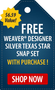 Free Weaver� Designer Silver Texas Star Snap Set with Purchase!