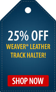 25% Off Weaver Leather Track Halter!