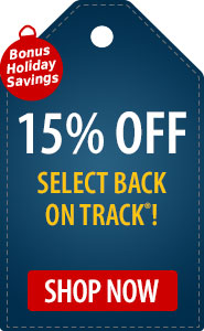 Bonus Holiday Savings 15% Off Select Back on Track!