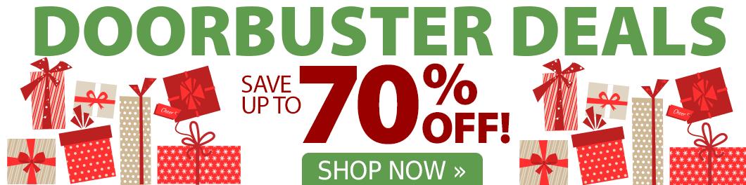 Doorbuster Deals up to 70% Off