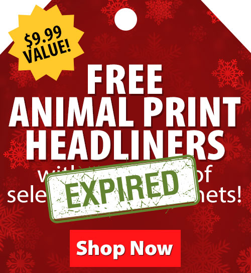 $9.99 Value! FREE Animal Print Headliners with purchase of select Troxel Helmets!