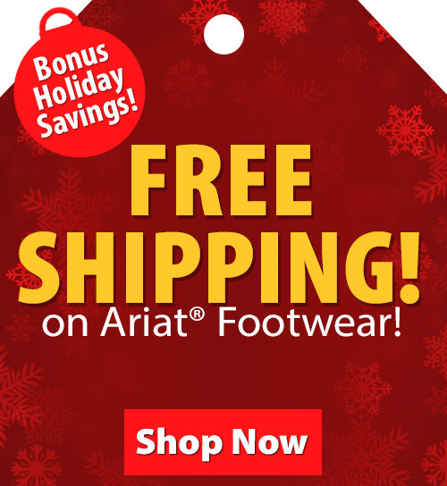 Save over 20% on Ariat Apparel and Footwear!