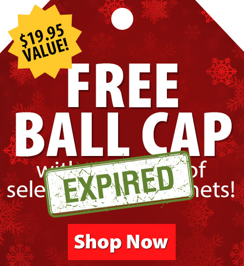 $19.95 Value! FREE Ball Cap with purchase of select Troxel Helmets!