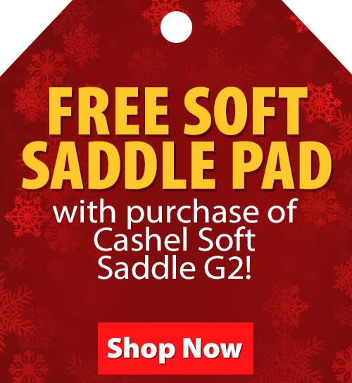 $39.99 Value! FREE Soft Saddle Pad with purchase of Cashel Soft Saddle G2!
