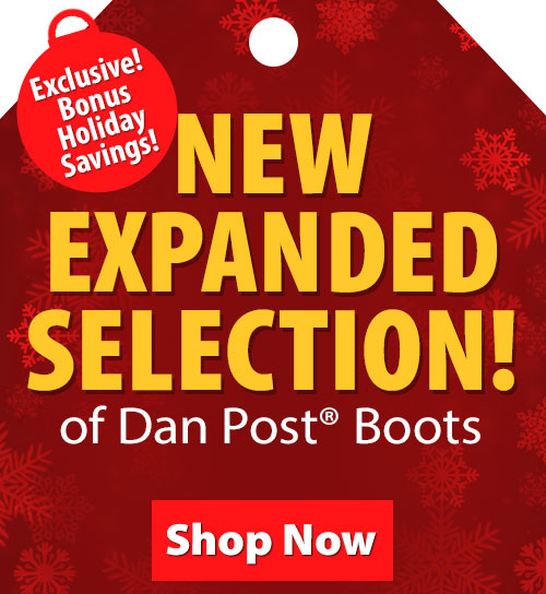 Save over 20% on Dan Post Boots!