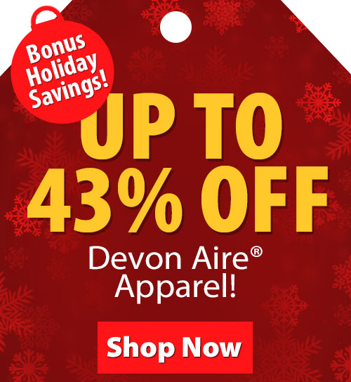 Up to 43% Off Devon-Aire Apparel!