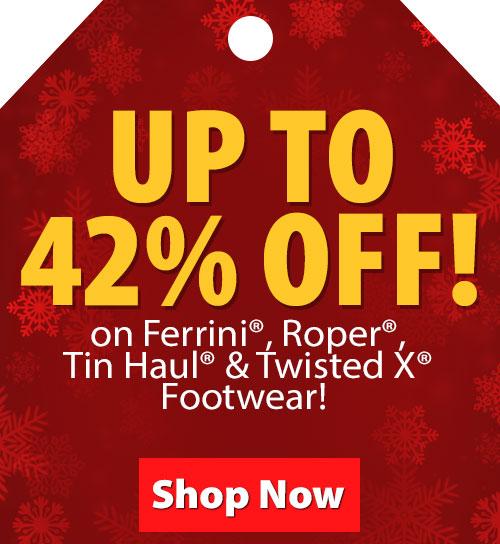 FREE Shipping on Ferrini, Roper, Tin Haul and Twisted X Footwear!