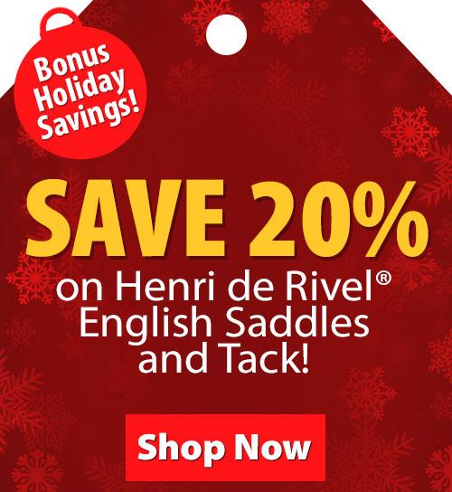 Save over 20% on Henri de Rivel English Saddles and Tack!