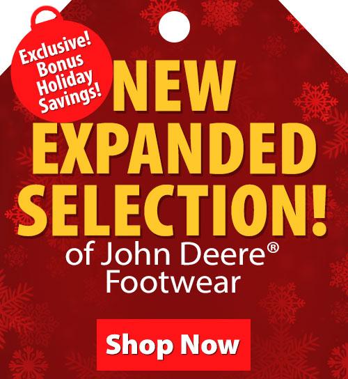 Save over 20% on John Deere Footwear!