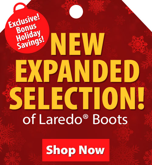Save over 20% on Laredo Boots!