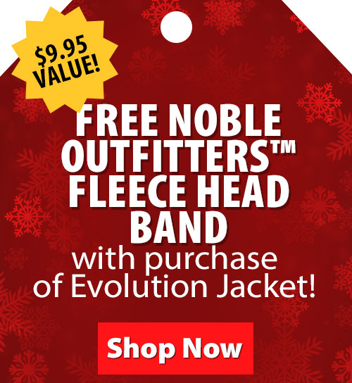 $9.95 Value! FREE Noble Outfitters Fleece Head Band with purchase of Evolution Jacket!
