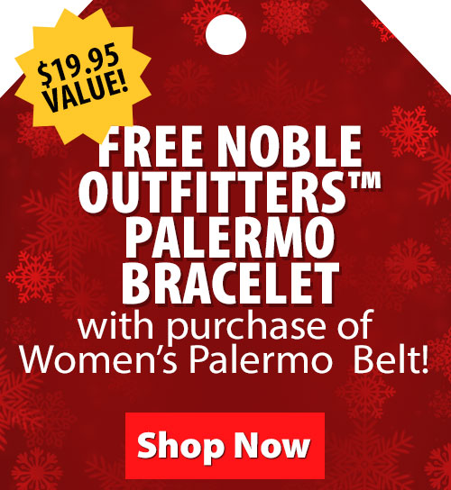 $19.95 Value! FREE Noble Outfitters Palermo Bracelet with purchase of Womens Palermo Belt!