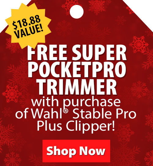 $18.88 Value! FREE Super PocketPro Trimmer with purchase of Wahl Stable Pro Plus Clipper!