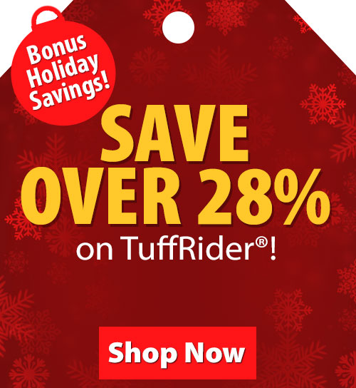 Save over 20% on TuffRider!