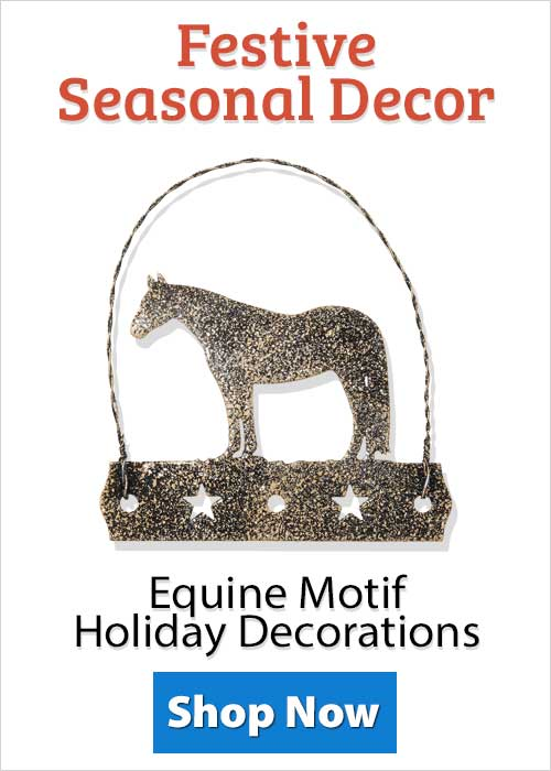 Shop Equine Motif Holiday Decorations!
