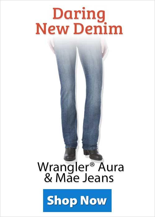 Shop Wrangler® Aura & Mae Jeans!