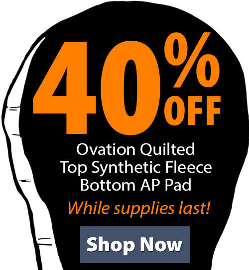 Shop Ovation Quilted Top Synthetic Fleece Bottom AP Pad!