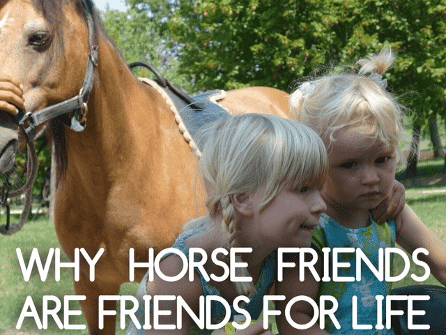 WHY HORSE FRIENDS ARE FRIENDS FOR LIFE